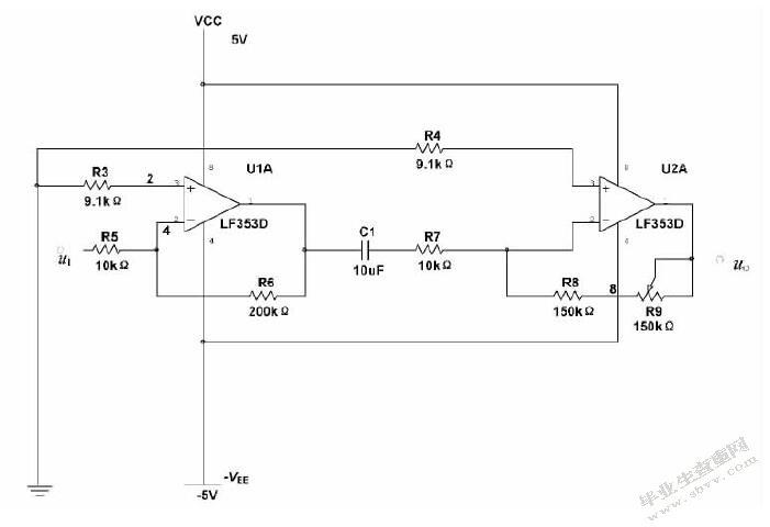 驱动电路的电路图设计如3-2所示.